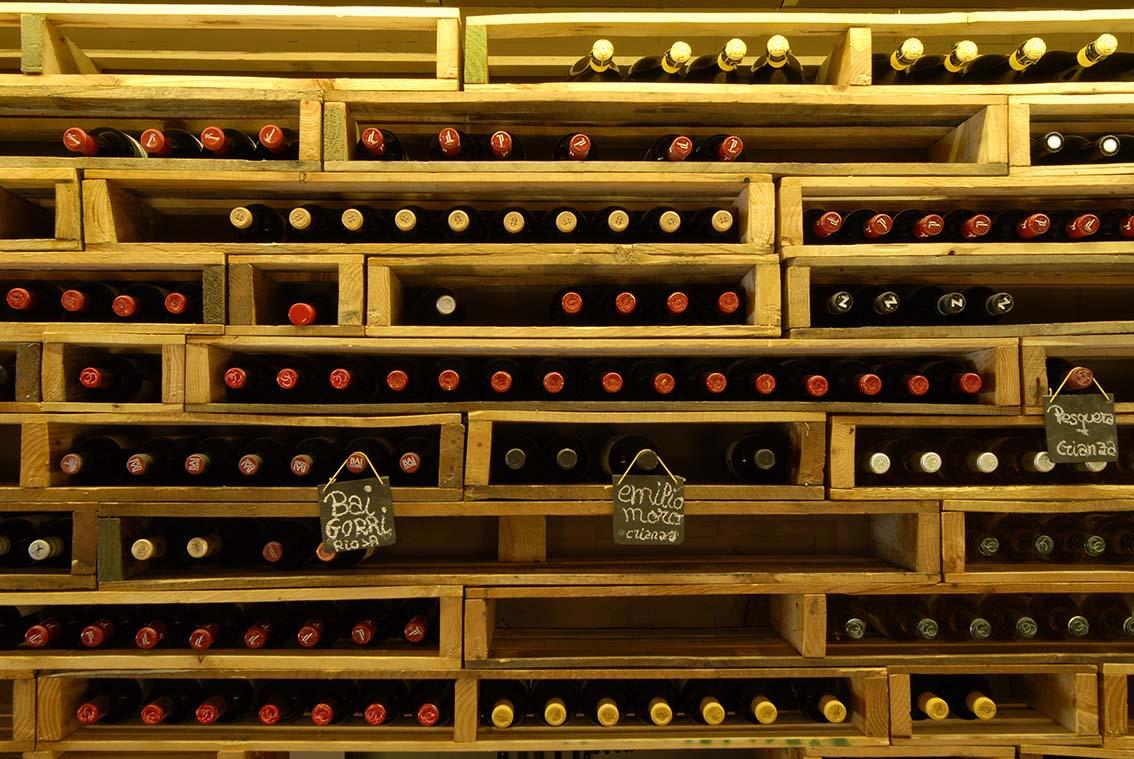 Nueva Estantería de Palets para vinos | Xavi Taberna Baeza